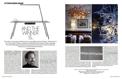 PRESS : ELLE DECORATION BELGIQUE