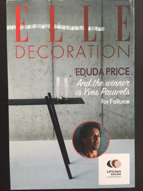 Proud to announce that Yves Pauwels - Falluce won the ELLE Décoration and Uptown Design award for his creation FOLIO !